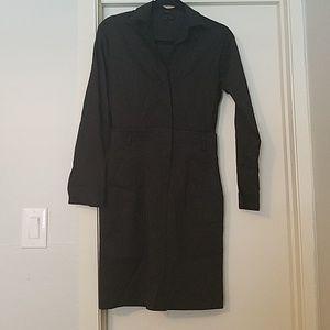 Theory Acasia Favor Shirt Dress Black sz 0